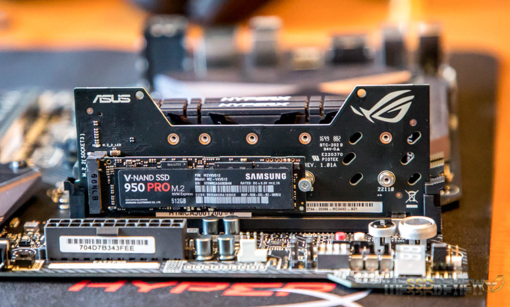 ASUS DIMM.2 Adapter with Samsung 950 Pro