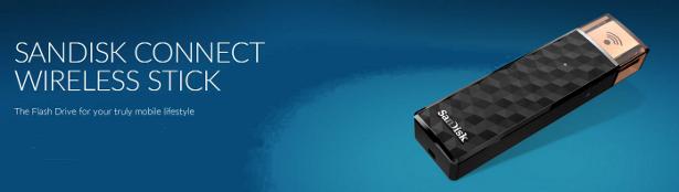SanDisk Connect wireless flash drive banner
