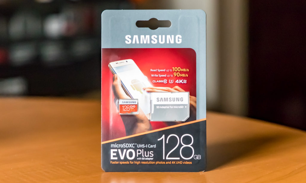 Samsung 128GB EVO Plus micrSDXC Card Package