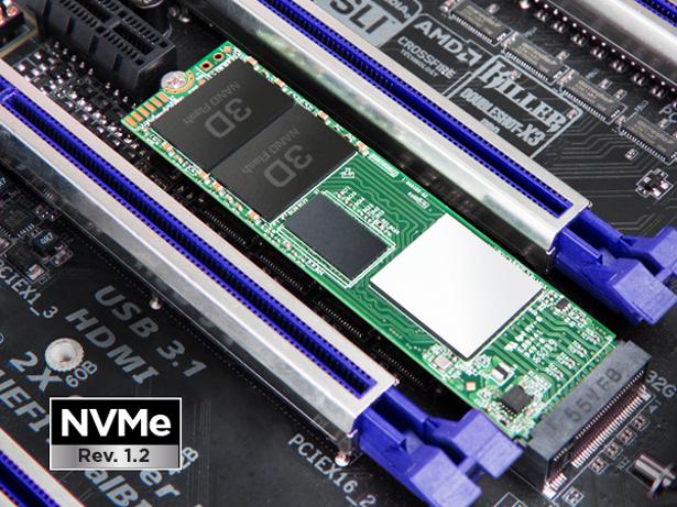 Transcend-MTE850 installed in motherboard