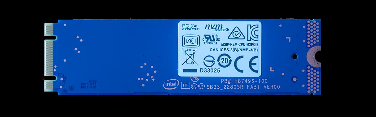 Intel Optane Memory SSD PCB Back