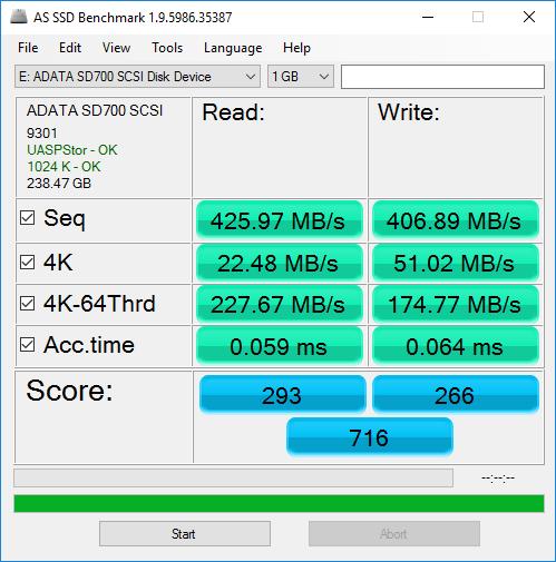 Adata SD700 Benchmarks 2