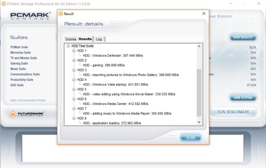 Intel SSD5 545s 512GB SATA III SSD PCMark Vantage