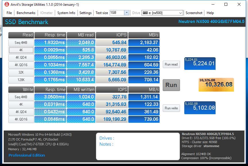 Corsair NX500 400GB Anvil