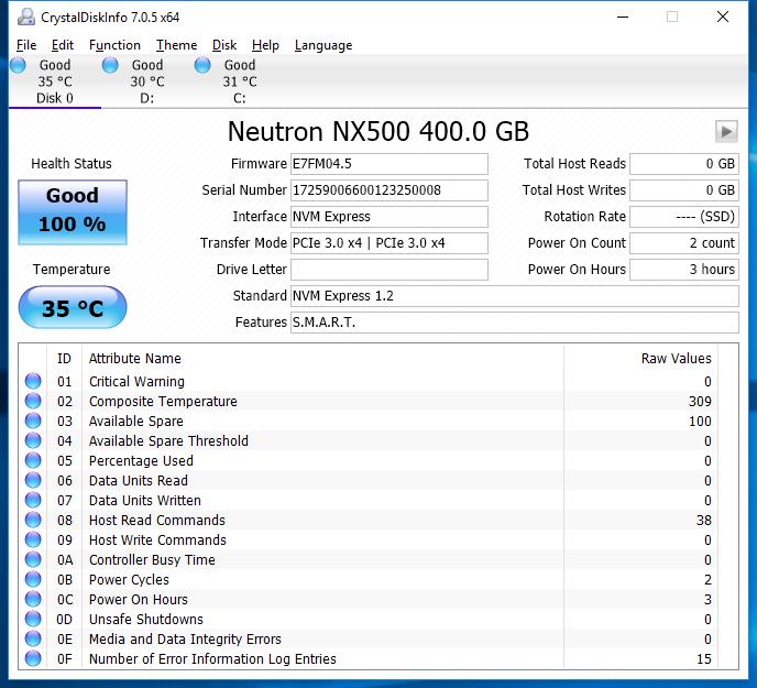 Corsair NX500 400GB CDI