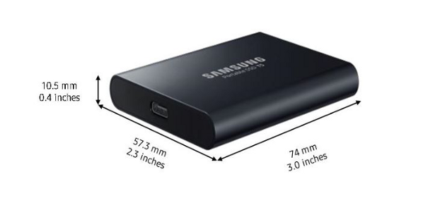 Samsung T5 dimensions